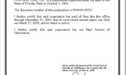 FL Corporation Document