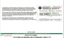 FL Roofing Contractor License