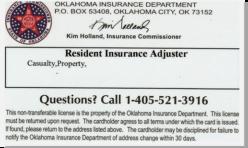 Insurance Adjuster License