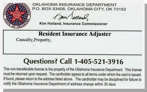 Insurance Adjuster License