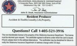 OK Insurance Producer License