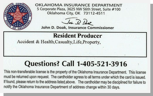 OK Insurance Producer License