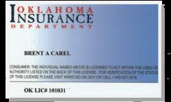 OK Insurance License Front